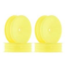 "JConcepts JCO3376Y - JConcepts Mono 2.2"" Slim Front Wheel Yellow B5M/RB6 (4)"