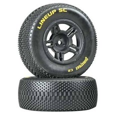 Duratrax DTXC3679 - Duratrax 1:10 Lineup SC Tire C2 Mounted Rear Slash (2)