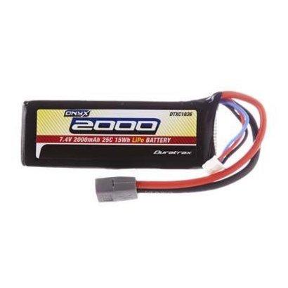 Duratrax DTXC1836 - Duratrax LiPo Onyx 2S 7.4V 2000mAh 25C Soft Case Star Plug