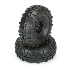 "Proline Racing PRO1197-10 - Pro-Line TSL Super Swampers XL 1.9"" G8 Tires mounted on Faultline Black/Black Bead-loc Wheels"
