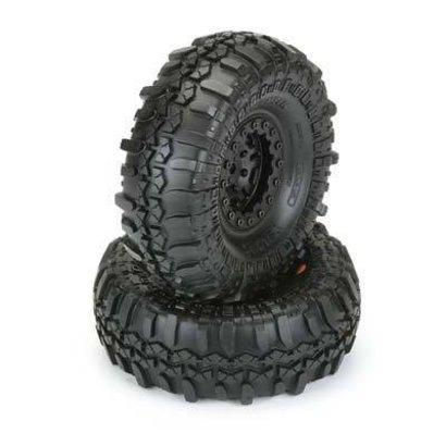 "Proline Racing PRO1197-10 - Pro-Line TSL Super Swampers XL 1.9"" G8 Tires mounted on Faultline Black/Black Bead-loc Wheels"