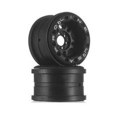 "Proline Racing PRO2758-15 - Pro-Line FaultLine 2.2"" Blk/Blk Bead-Loc Yeti F/R"