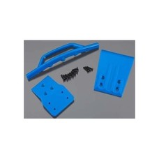 RPM R/C Products RPM80025 - RPM Front Bumper & Skid Plate Blue Slash 4X4