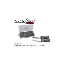"Caster Racing TL-023-IN - Caster Hex Tool Set ""Standard"""