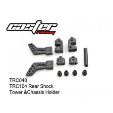 Caster Racing TRC040 - Caster Racing Rear Shock Tower & Chassis Holder