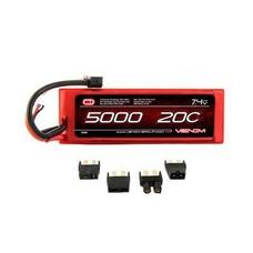 Venom VNR1555 - Venom LiPo 2S 7.4V 5000mAh 20C Universal System Plugs