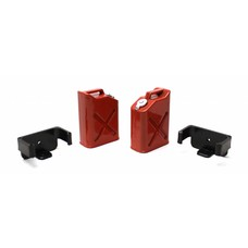 Rage RCE3404 - Rage 1/10 Scaler Plastic Gasoline Jugs (2) - Red