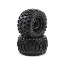 """Proline Racing PRO10127-13 - Proline 3.8 Badlands Tires Mounted on F-11 Black 1/2"""" Offset 17mm Wheels"""