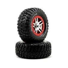 Traxxas TRA5877A - Traxxas Tire & Wheel Chrome, Red