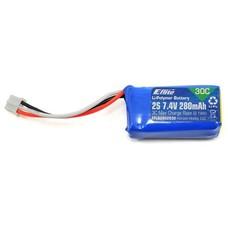 E-flite EFLB2802S307.4 - E-flite 280mah 7.4v 2s lipo