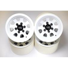 Hot Racing BLW22S38 - Hot Racing 2.2 White Steel S Wheels
