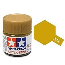 Tamiya TAMR1512 - 81512 Acrylic Mini X12 Gold Leaf 1/3 oz