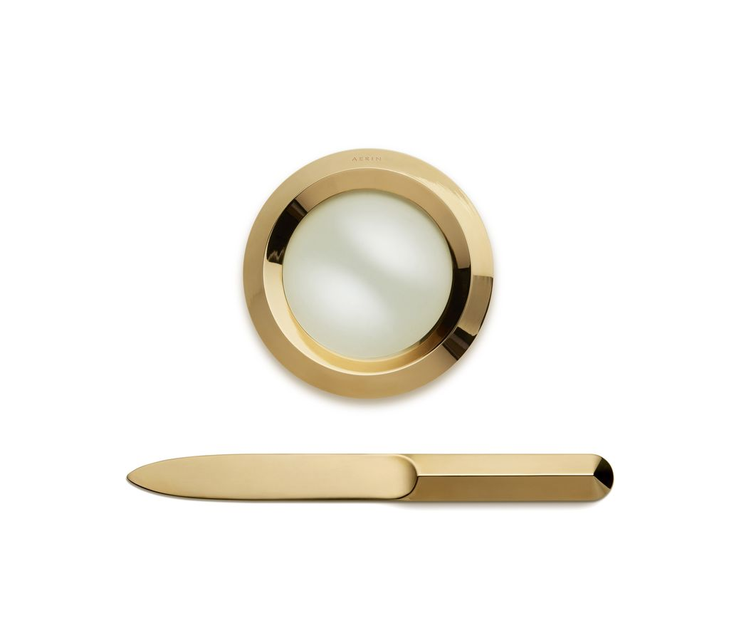 AERIN ARCHER MAGNIFYING GLASS & LETTER OPENER SET