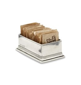 MATCH PEWTER SUGAR PACKET HOLDER