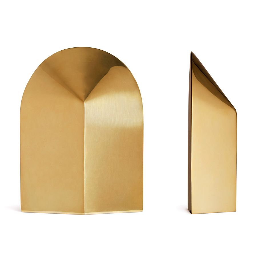 AERIN ARCHER BOOKENDS GOLD S/2