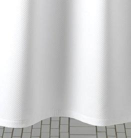 MATOUK SHOWER CURTAIN DIAMOND PIQUE WHITE
