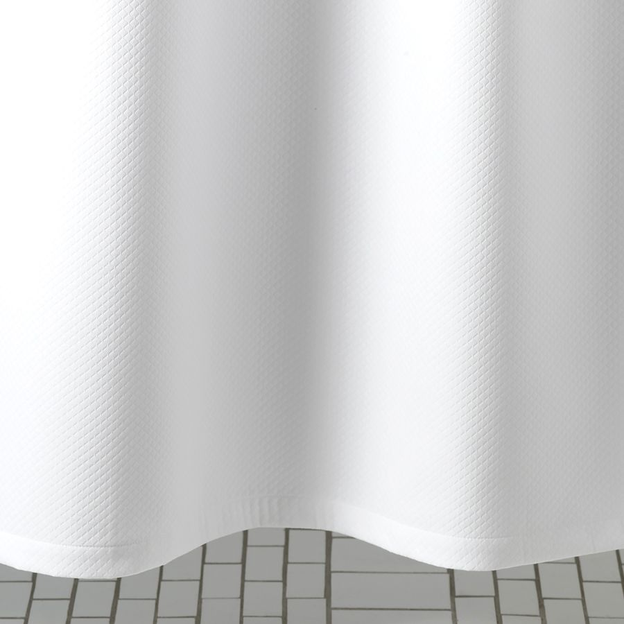 MATOUK SHOWER CURTAIN DIAMOND PIQUE WHITE