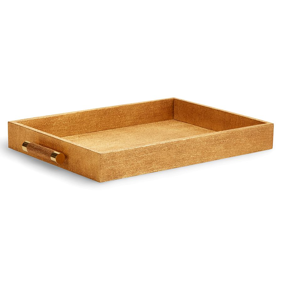 AERIN GOLD LINEN CLASSIC TRAY