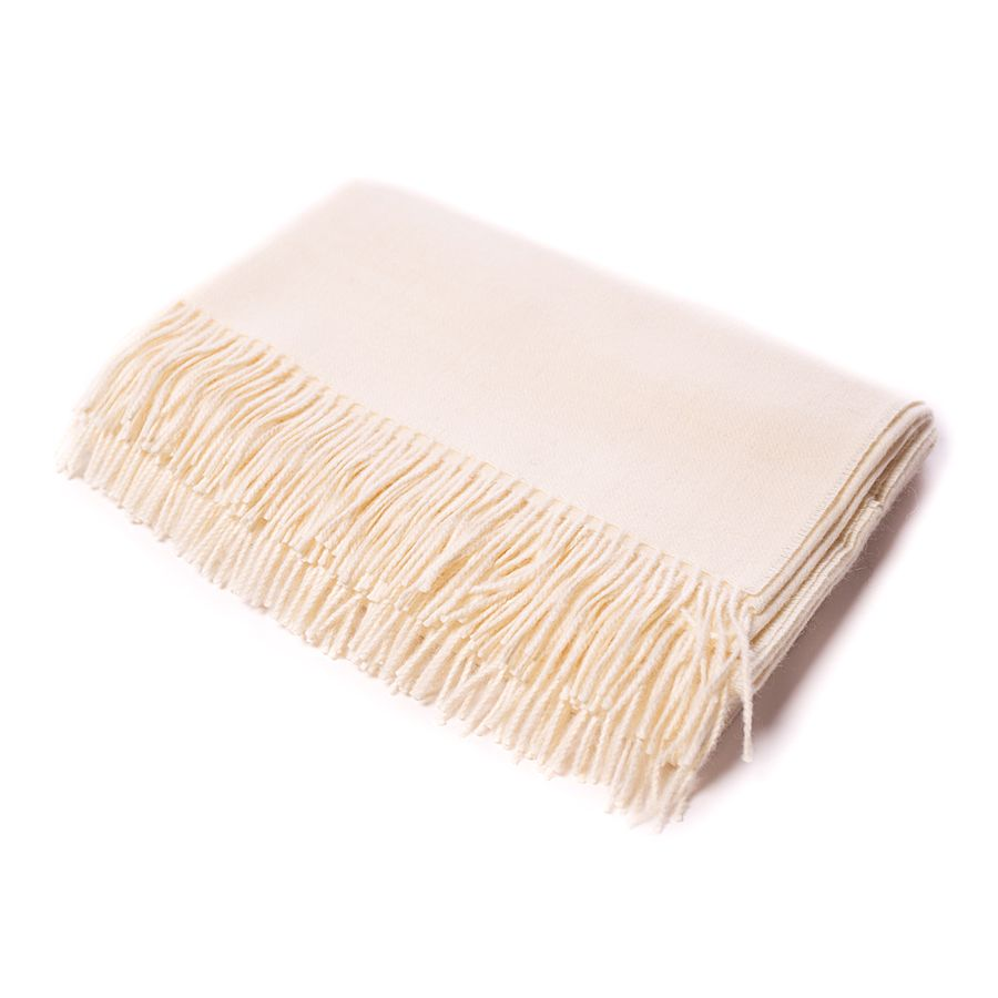 Alicia Adams CLASSIC THROW IVORY
