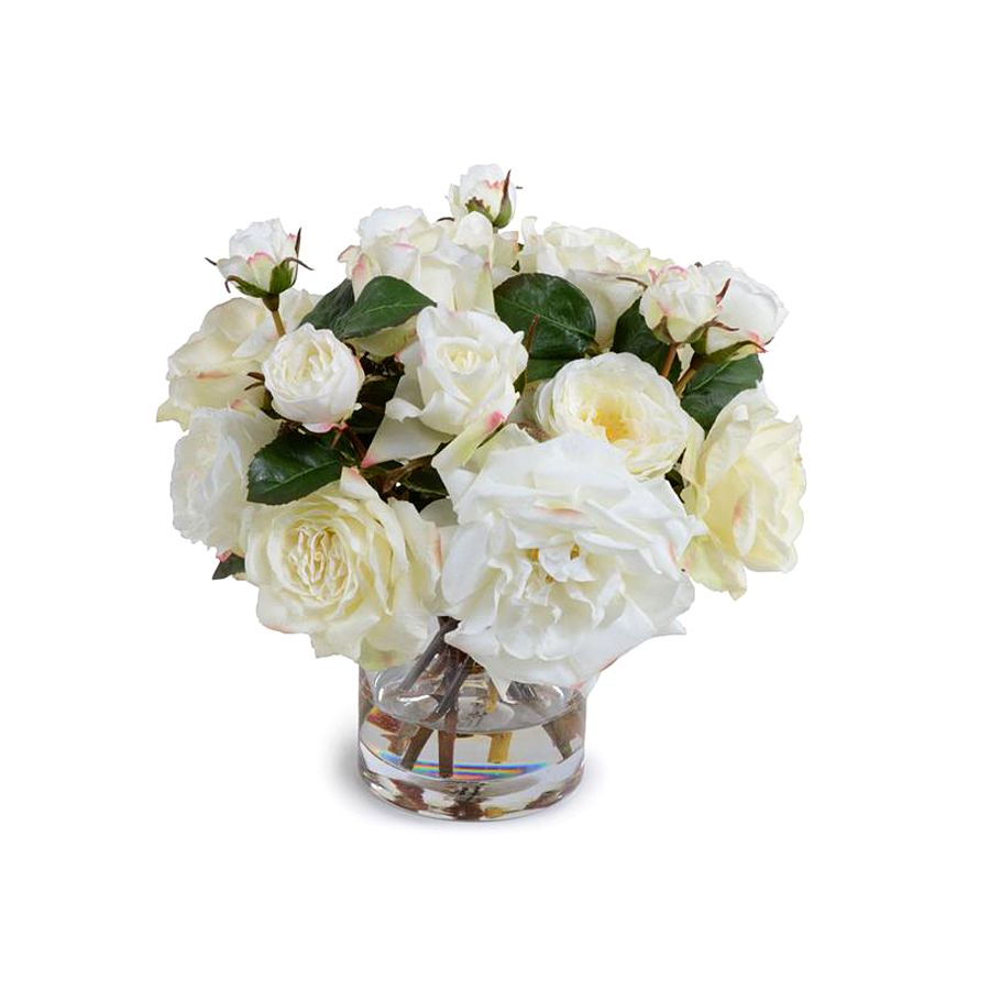 NEW GROWTH/TRANS EAST ASSORTED WHITE ROSE BOUQUET