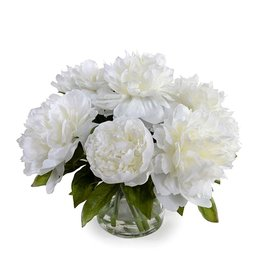 NEW GROWTH/TRANS EAST WHITE PEONY BOUQUET SMALL