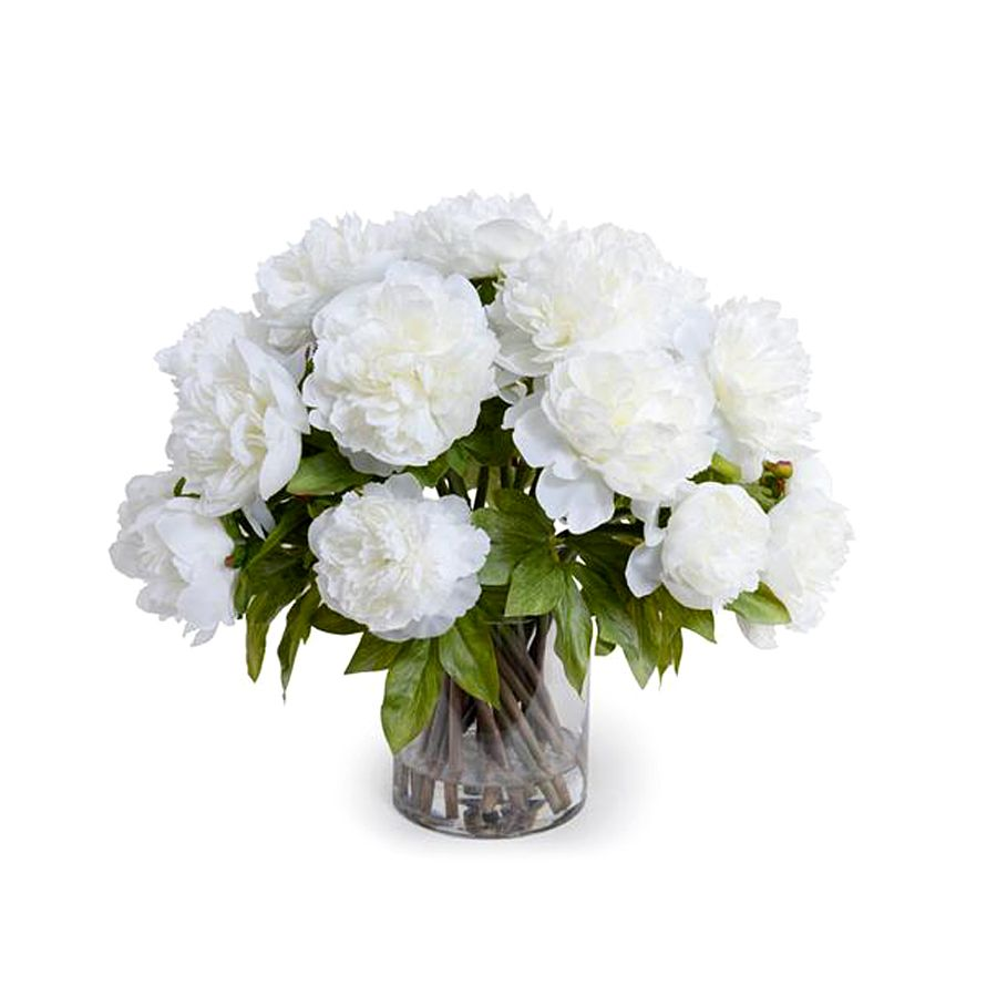 NEW GROWTH/TRANS EAST WHITE PEONY BOUQUET  LARGE