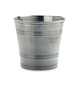 MATCH PEWTER WASTEBASKET
