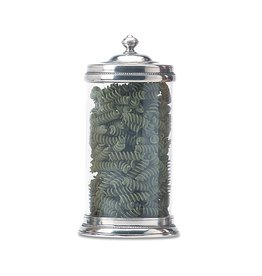 MATCH PEWTER & GLASS CANISTER LARGE