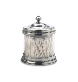MATCH PEWTER & GLASS CANISTER SMALL