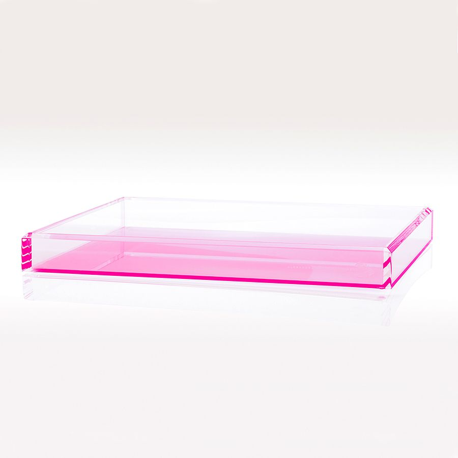 ALEXANDRA VON FURSTENBERG AVF VOLTAGE ROSE COCKTAIL TRAY MEDIUM