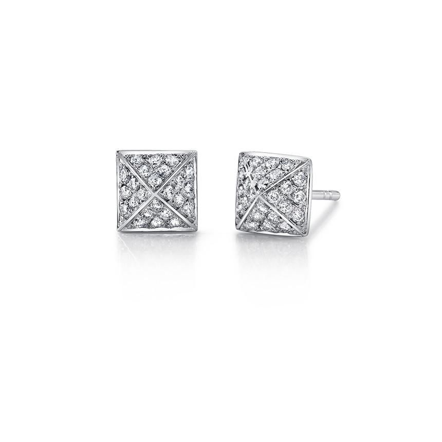 ANITA KO ANITA KO WHITE GOLD DIAMOND SPIKE STUD EARRING