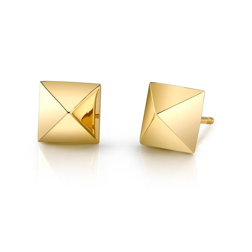 ANITA KO ANITA KO YELLOW GOLD SPIKE EARRING