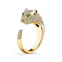 ANITA KO ANITA KO YELLOW GOLD DIAMOND PANTHER RING