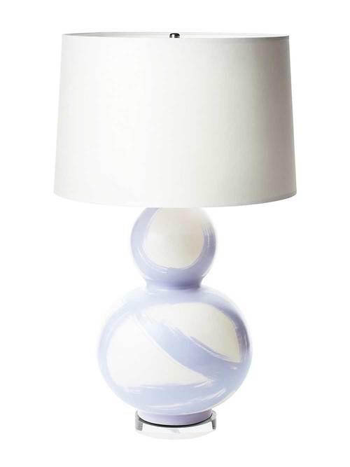 JANA BEK LILAC BRUSHSTROKE + LUCITE LAMP