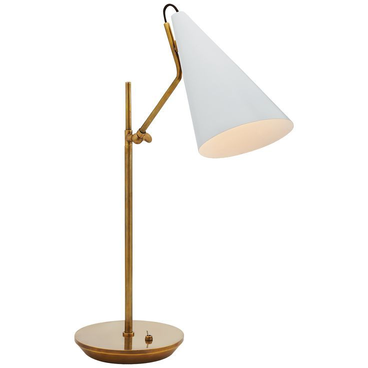 VISUAL COMFORT CLEMENTE TABLE LAMP WHITE