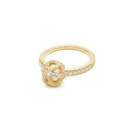 HALLEH JEWELRY HALLEH SPHAERA DANGLE WHITE DIAMOND RING