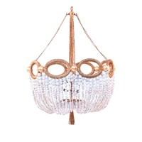 RO SHAM BEAUX FIONA  WHITE BEADED CHANDELIER