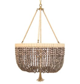 RO SHAM BEAUX MALIBU EGGPLANT BEADED CHANDELIER
