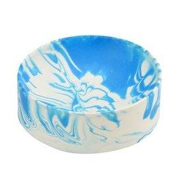 TROELS FLENSTED TROELS FLENSTED LARGE POURED BOWL BLUE + WHITE