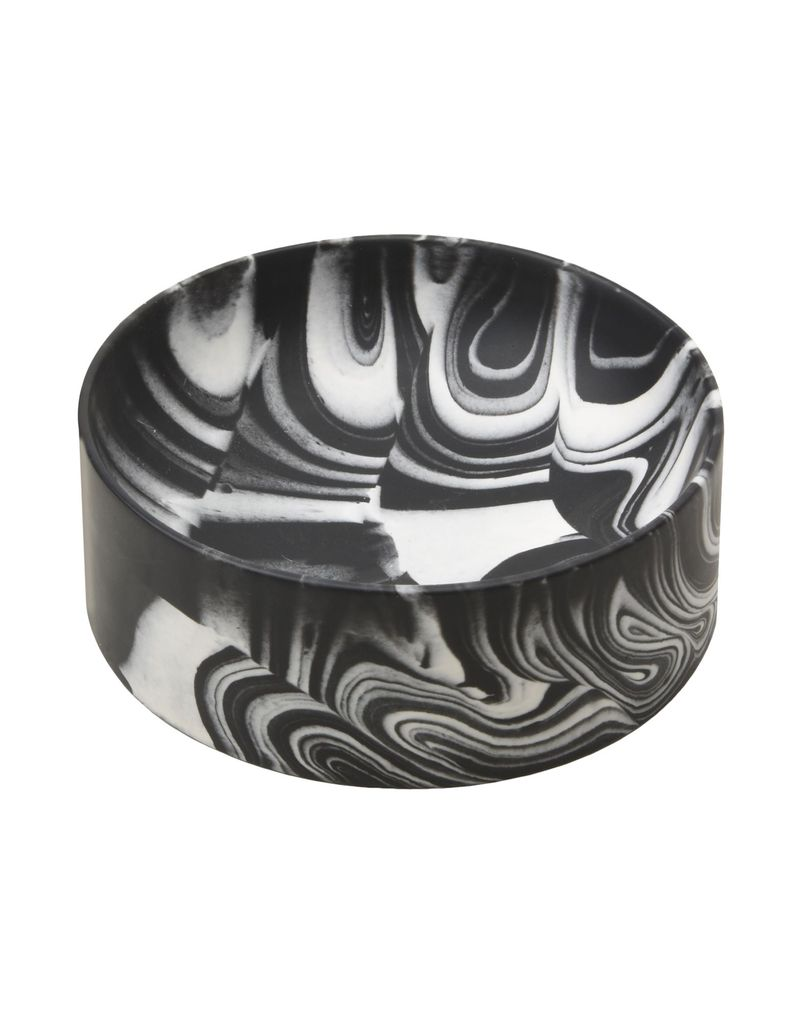 TROELS FLENSTED POURED BOWL BLACK + WHITE SMALL