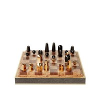 AERIN CHOCOLATE SHAGREEN CHESS SET