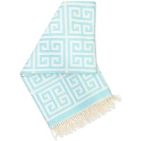 JONATHAN ADLER ENTERPRISE GREEK KEY THROW IN LIGHT BLUE