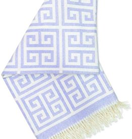 JONATHAN ADLER ENTERPRISE JONATHAN ADLER GREEK KEY THROW IN PURPLE