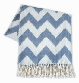 JONATHAN ADLER ENTERPRISE JONATHAN ADLER ZIG ZAG THROW IN GREY