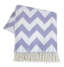 JONATHAN ADLER ENTERPRISE JONATHAN ADLER ZIG ZAG THROW IN PURPLE