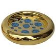 WAYLANDE GREGORY STUDIO GOLD CRACKED GLASS ASHTRAY