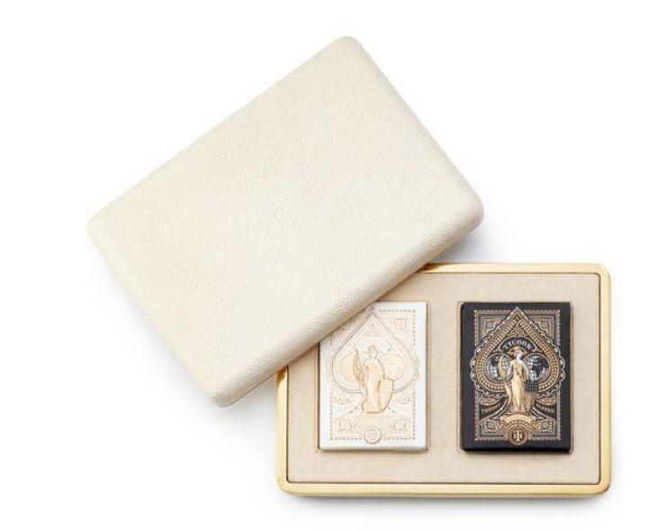 AERIN AERIN SHAGREEN CARD CASE CREAM