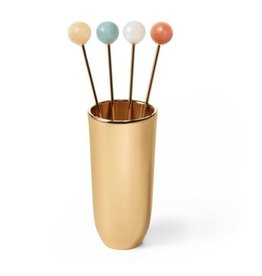 AERIN AERIN ANNETTE MULTI COCKTAIL PICKS WITH HOLDER