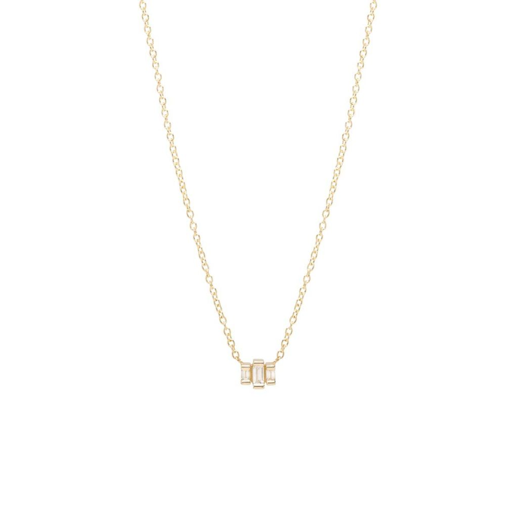 ZOE CHICCO ZOE CHICCO 3 STEP BAGUETTE NECKLACE