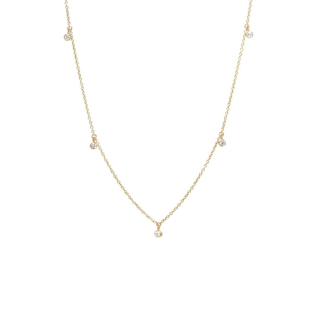 ZOE CHICCO ZOE CHICCO  SCATTERED DANGLING DIAMONDS NECKLACE